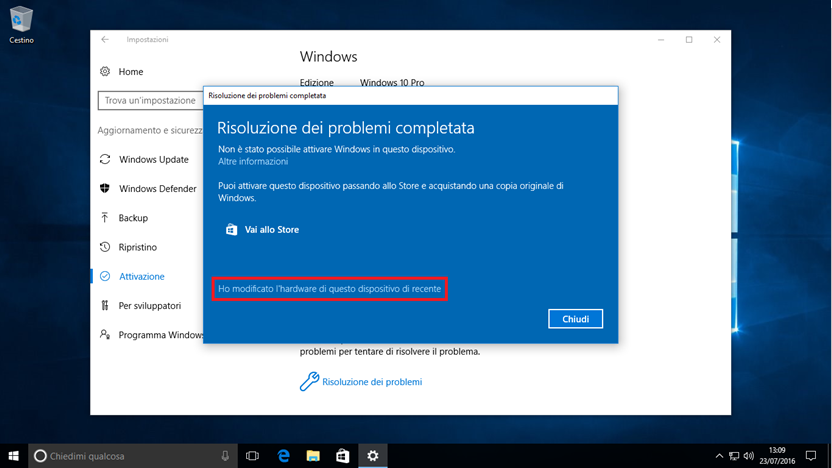 Windows 10 licenza pi permissiva for La licenza di windows sta per scadere